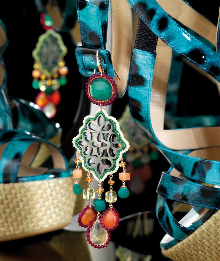 Fati Pura Passion di Befumo Fatima Maria Stella Orecchini in argento con pietre semipreziose Silver earrings with semiprecious gems fm.befumo@tiscali.it