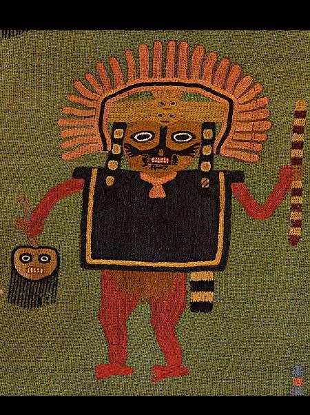 Paracas Textiles: Severed head purse