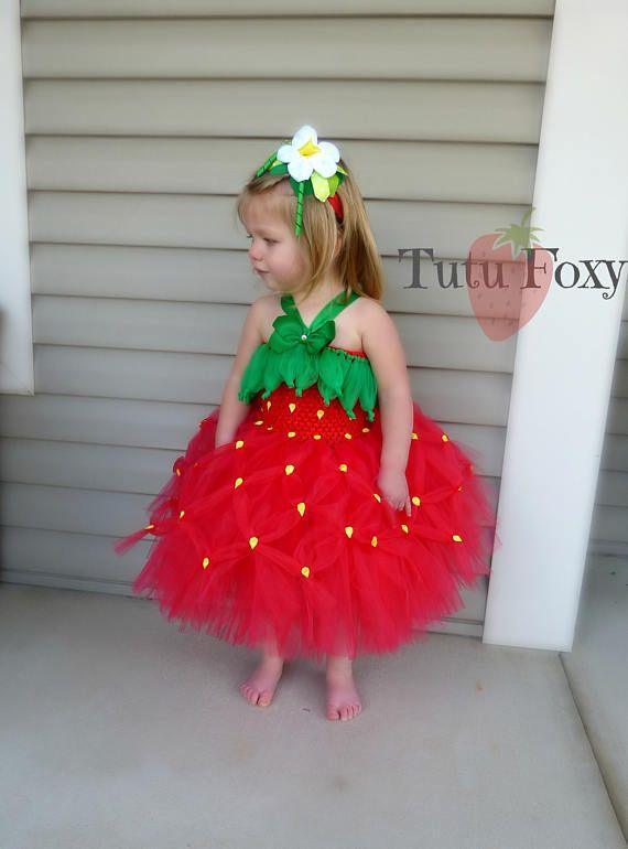 Fresa vestido del tutú tutú de fresa disfraz de fresa fresa