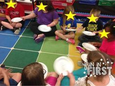 Pass the Plate Sight Words...music stops...go around and say sight word on your plate (could also do math facts)