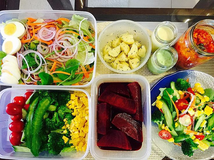 Festive salad prep for weekend!  週末に向けてお野菜たくさんサラダの準備完了!ドレッシングはバジルと、柑橘の2種類で!salad#beets#onion#carrot#cucumber#arugula#tomato #corn #redonion#eggs#potato#herbs#oliveoil#broccoli #dressing#basil#citrus#vinegar#salt#pepper#healty #nutrition #detox#vegetable#