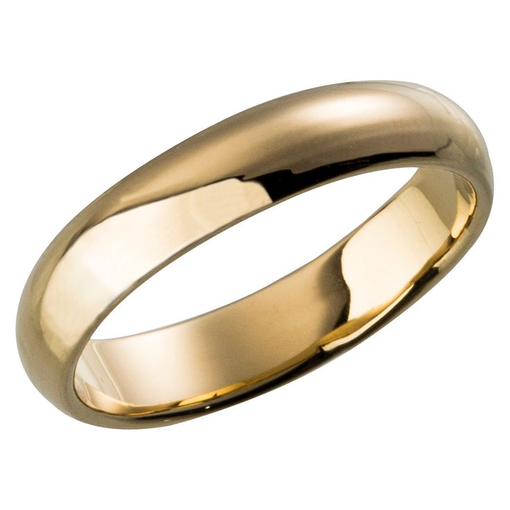 Plain Wedding Band Gold Plated Ring - Size 7, Women's