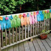 Luau Party Ideas - Neon Silk Flower Deck Fringe