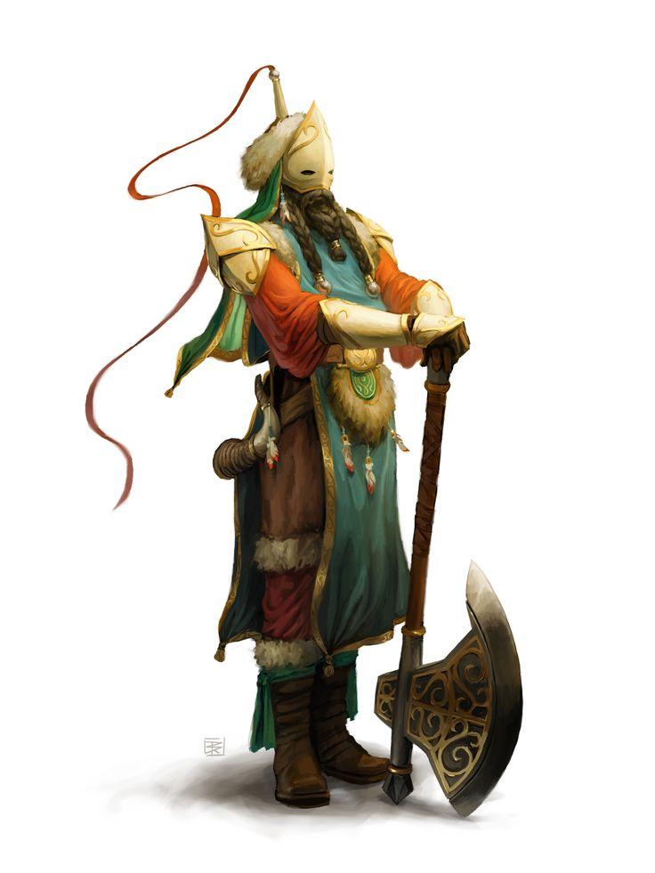 DenmanRooke. Serbian bearded axe Warrior