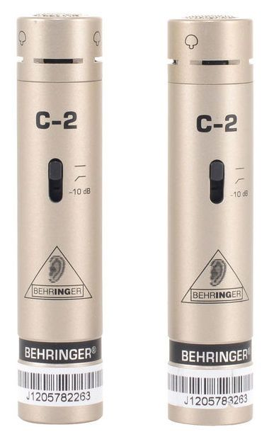 Behringer C2 Stereoset. Matched mics - perfect for drums, and a whole lot more!