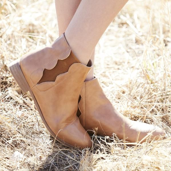 scalloped boot