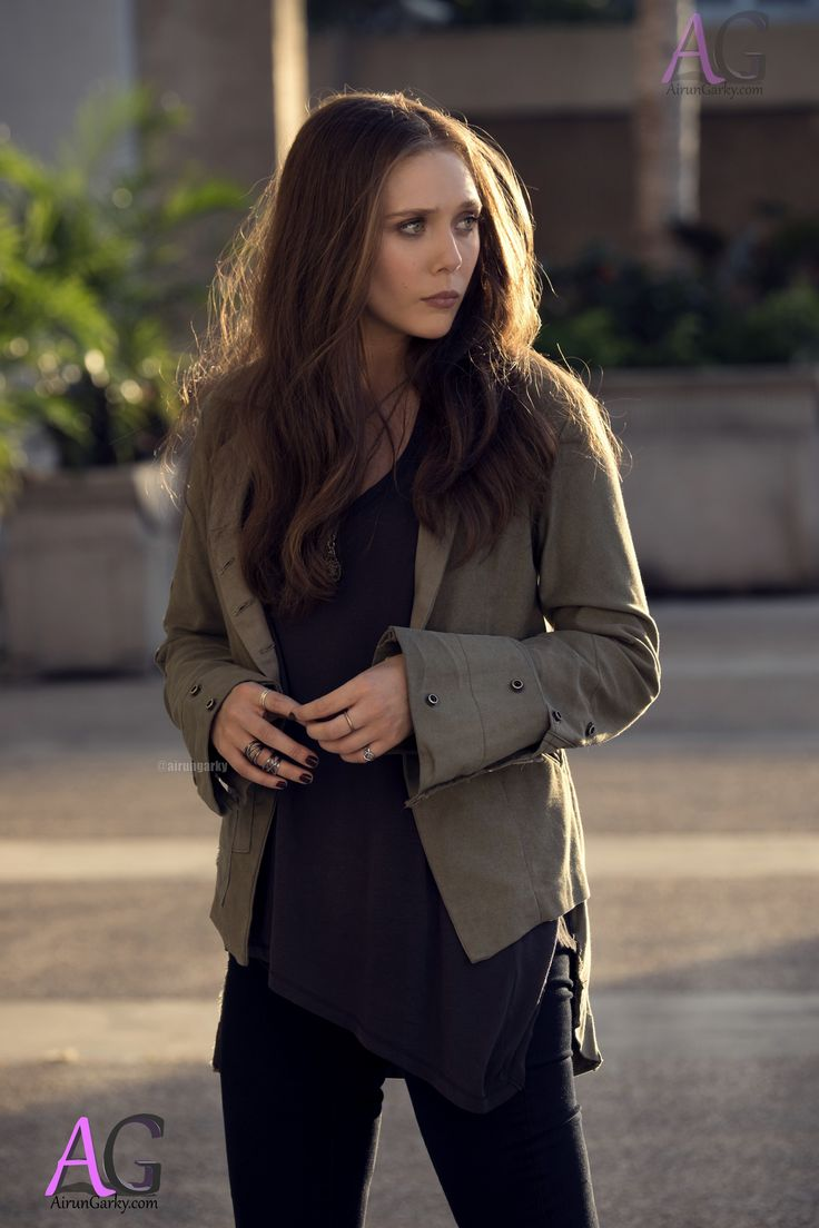 "Elizabeth Olsen as Scarlet Witch / Wanda Maximoff from ""Captain America: Civil War"" (2016)."