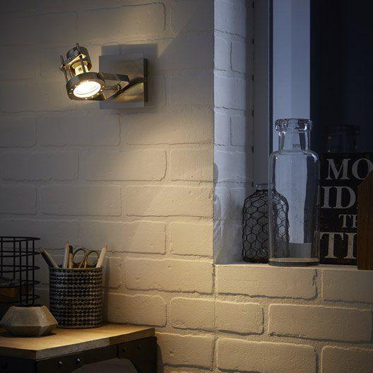 Spot patère sans ampoule, 1 x GU10, acier Technic INSPIRE