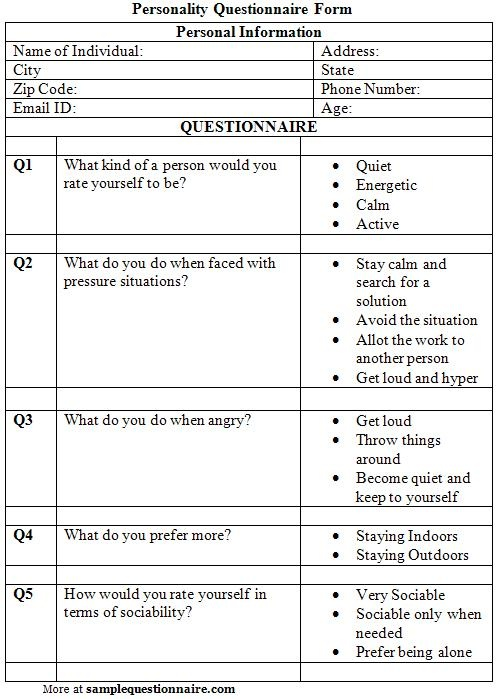 Best 25+ Personality questionnaire ideas on Pinterest