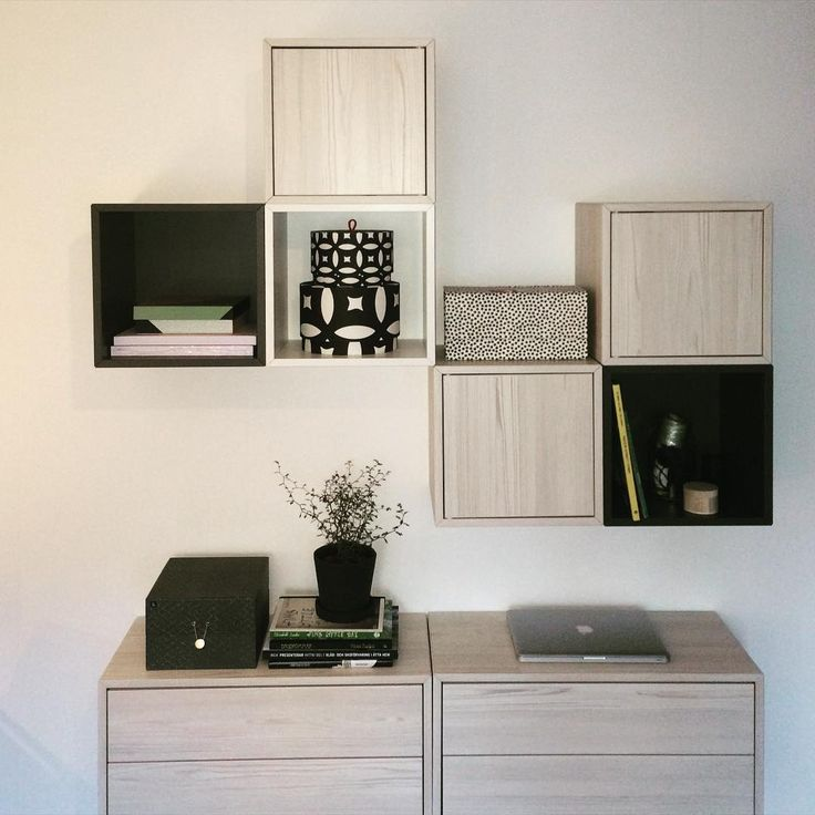 Ikea 'Valje' boxes in organized entryway