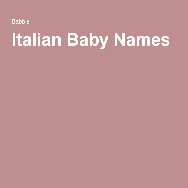 Popular Italian Boy Names: 25+ Best Ideas About Italian Baby Names On Pinterest