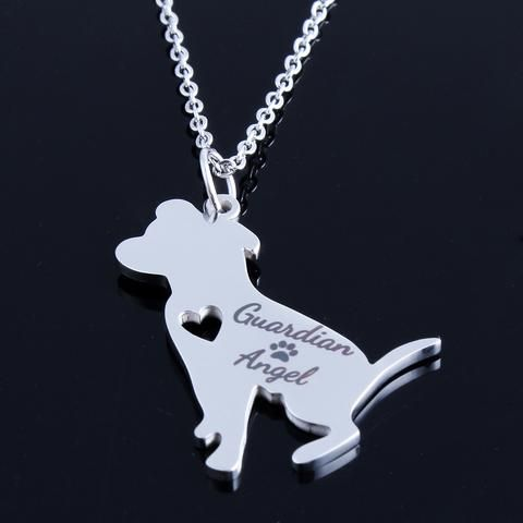Guardian Angel Pitbull Necklace - DingJewels