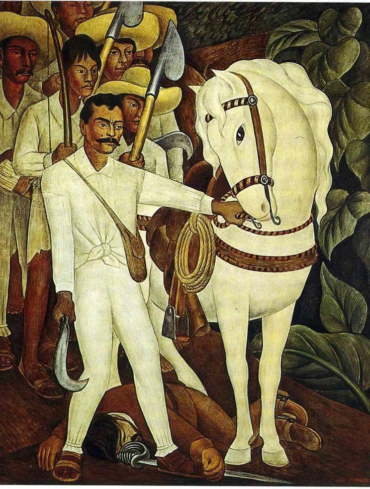 Diego Rivera, 1931, Agrarian Leader Zapata. Fresco on reinforced cement in galvanized-steel framework