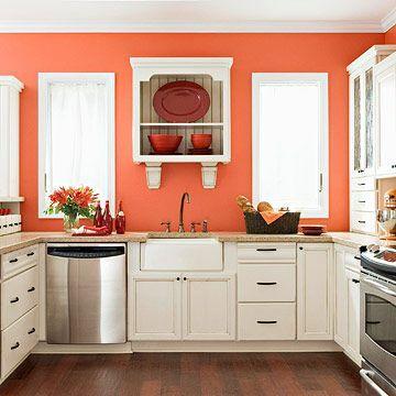 Colors To Pain Dark Kitchen With Dark Cupboards