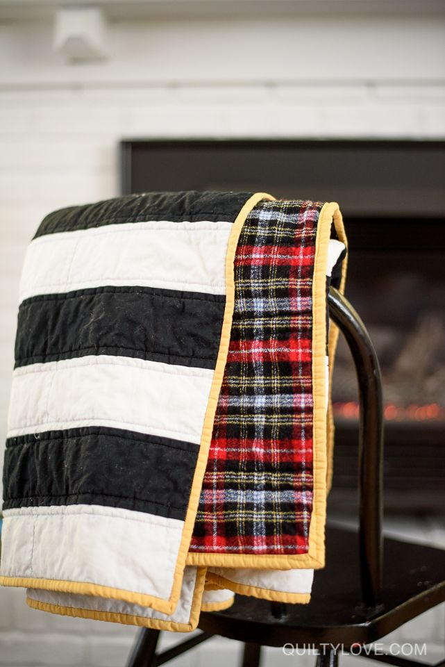 Quilty Love | My flannel stripey quilt | http://www.quiltylove.com