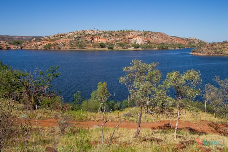 Lake Moondarra, just outside of Mount Isa is a beautiful blue respite from its red surrounds with peacocks walking about, waiting to be fed! #thisisqueensland