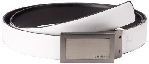 Calvin Klein Men's Reversible Belt, Black/White, 34 US Made by #Calvin Klein Color #Black/White. Reversible. Two-tone