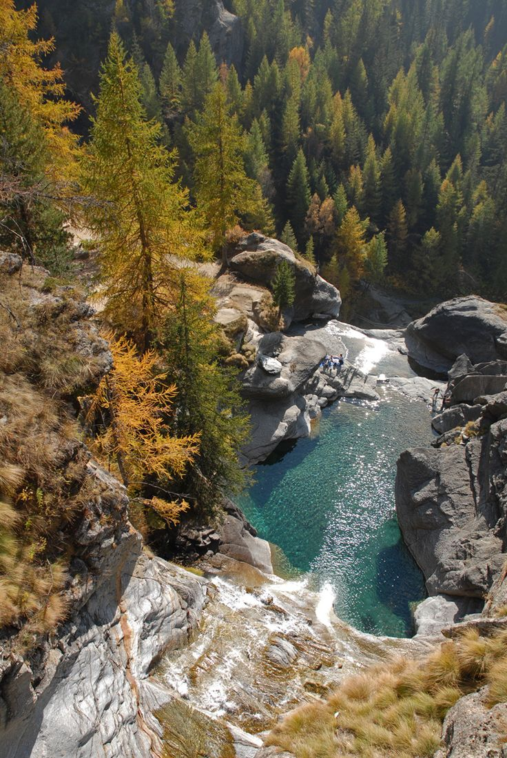 Lillaz Falls, Valle d'Aosta, Italy