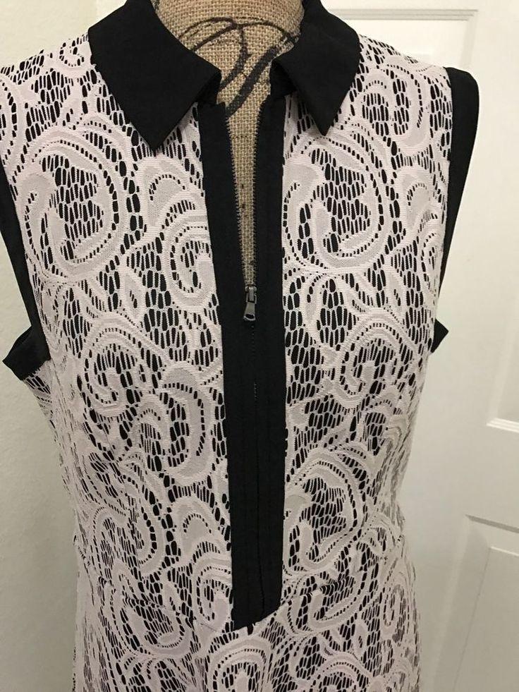 Women's Betsey Johnson Flair Lace Overlay Black Cream Summer Dress Sz 12 ❌⭕️❌  | eBay
