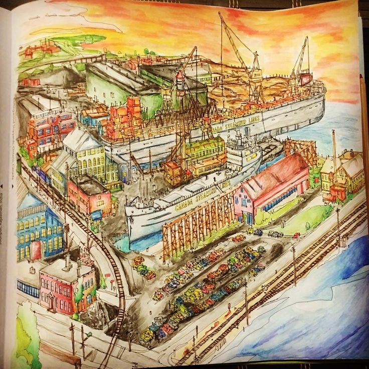 My First Watercolor Is Completed Fantasticcitiescolouringbook Fantasticcities Prismacolor PrismacolorColoring BooksAdult