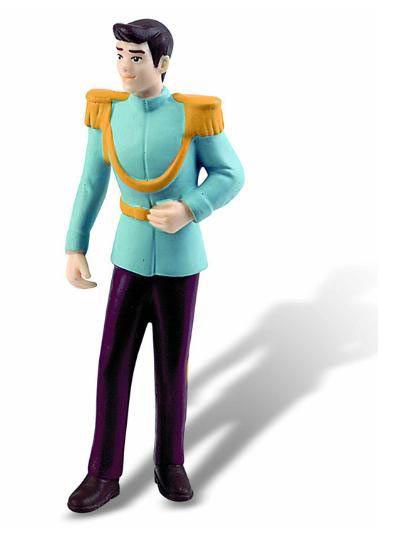 Minifigura La Cenicienta. Príncipe, 11 cms Minifigura de 11 cms con el personaje el Príncipe perteneciente a la película de Disney La Cenicienta, fabricada en pvc.