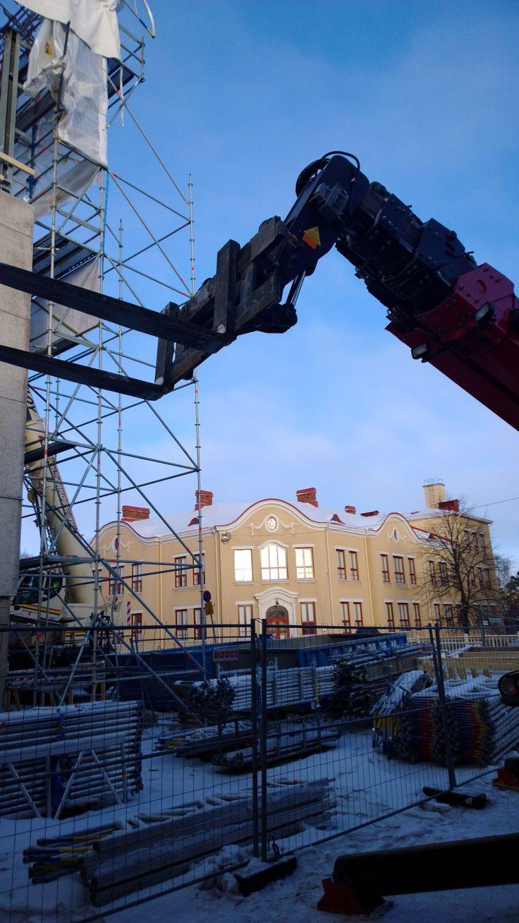 VAMK Palosaari Campus under renovation. Photographer: Eliina Salmela