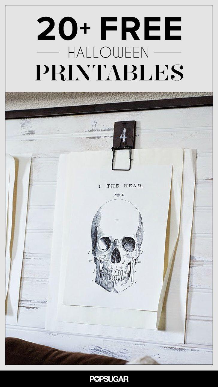 20+ Free Halloween Printables