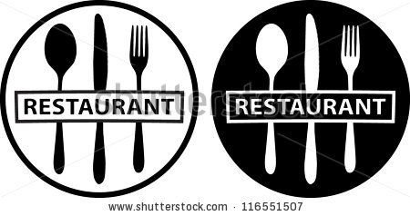 spoon, knife and fork, (food icon, food symbol, restaurant ...