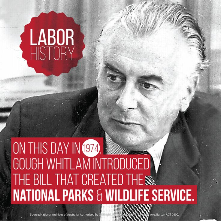 Australian Labor Party 40 years ago today Gough Whitlam helped create sustainable national parks for everyone. SHARE the good news.
