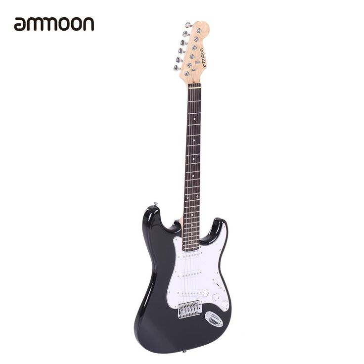 black ammoon Full Size Electric Guitar Poplar Wood Body Rosewood - Tomtop.com