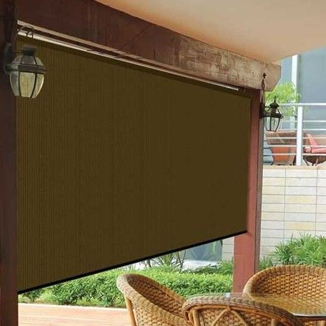 Features:  -Ideal for reducing temperatures in your home.  -Blocks the suns UV rays yet still allows air to flow through.  -Mold and mildew resistant.  -Will not rot, tear or fade.  -Cover color: Brow