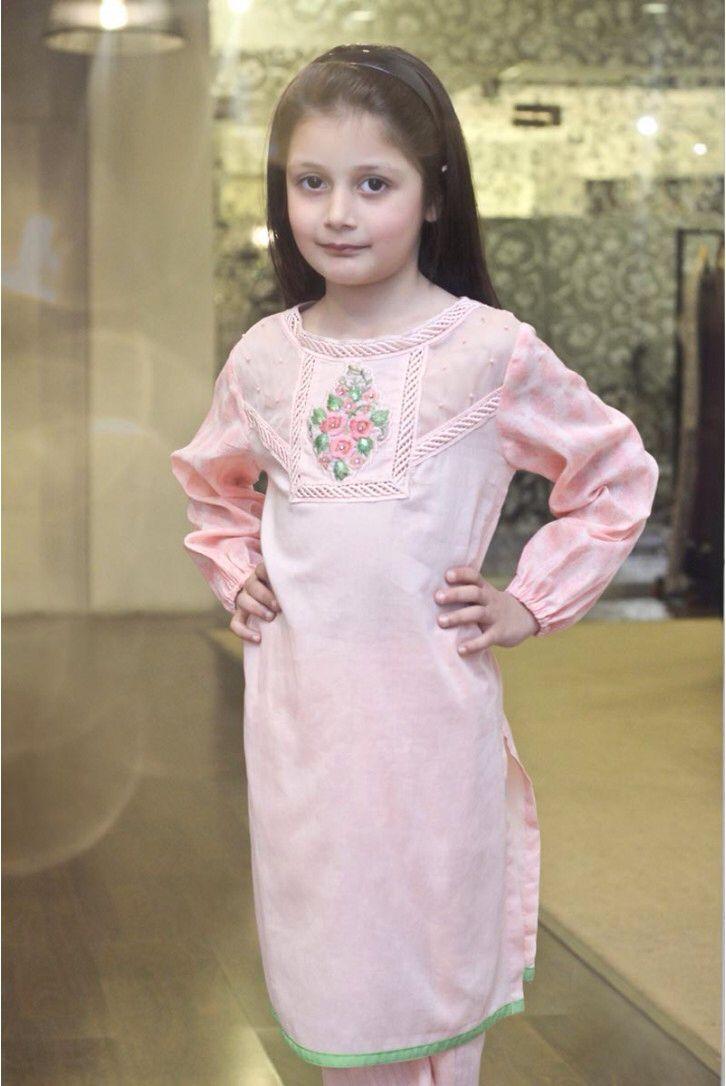 Eid kids kurta shalwar kameez designs 2013 2014 - Frocks Designs By Maria B Children S Wear Pakistan