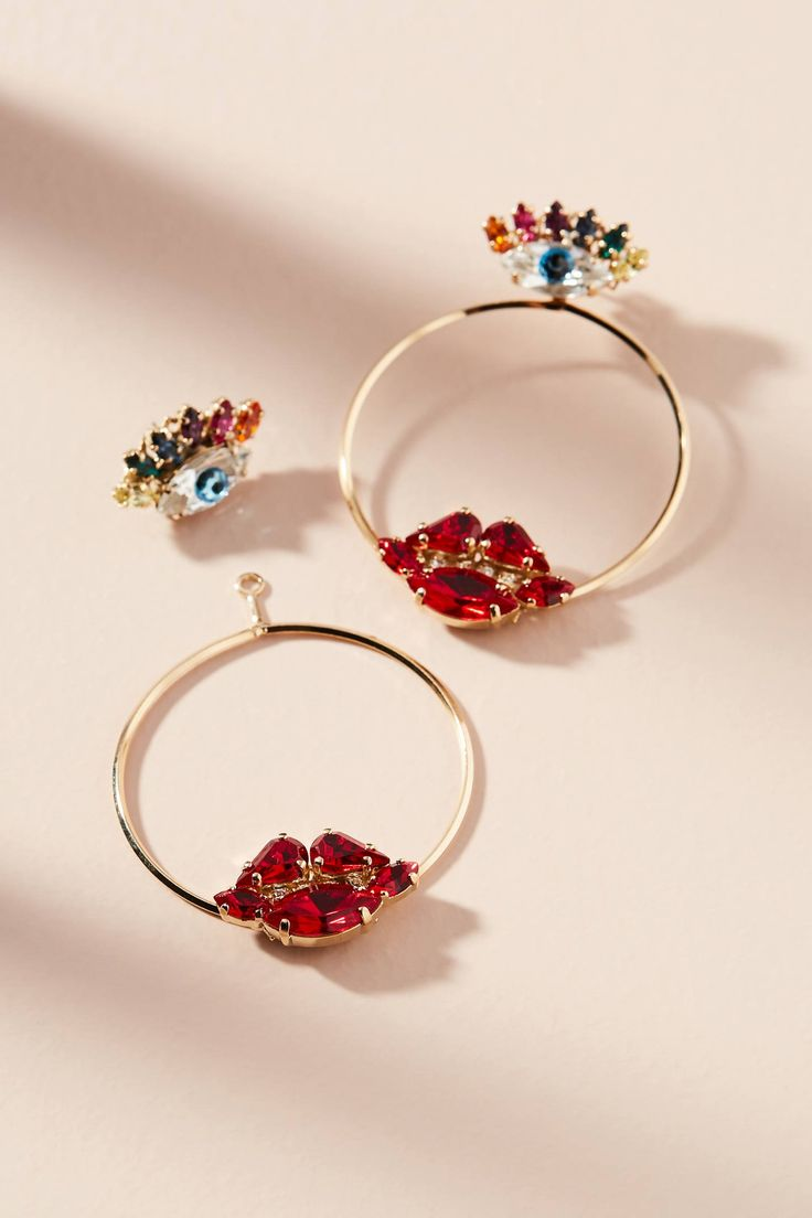 Shop the Lips & Eyes Hoop Earrings and more Anthropologie at Anthropologie today. Read customer reviews, discover product details and more.