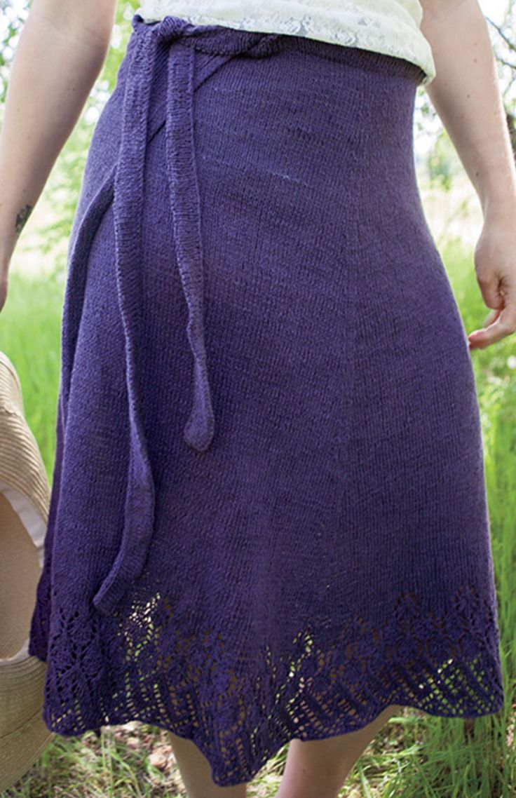 148 best knitterly images on pinterest free knitting knits and free knitting pattern for wrap around skirt erica jackofsky fiddle knits designed this lace trimmed stockinette wrap skirt for knit picks bankloansurffo Images