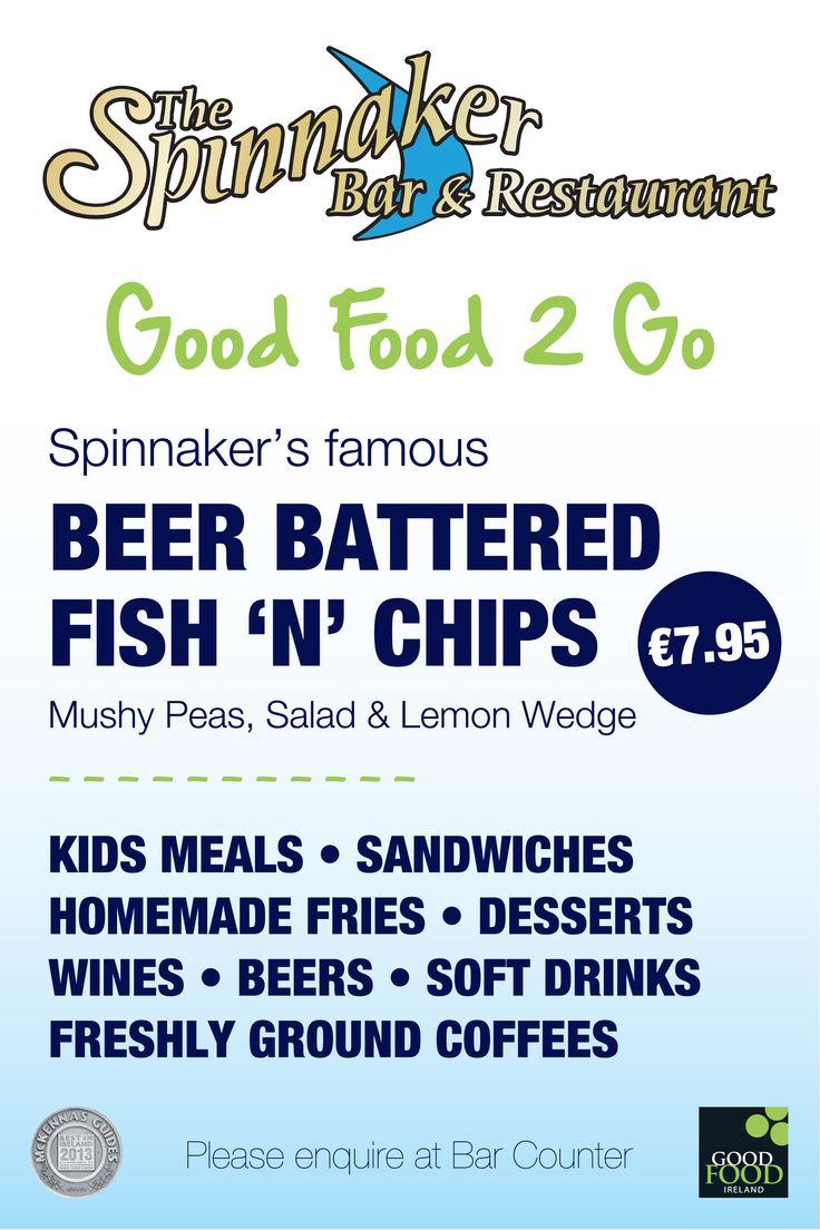 Good Food 2 Go signage @ The Spinnaker Bar, Dunmore East