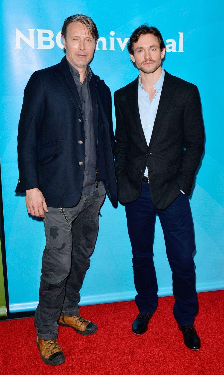 Mads Mikkelsen and Hugh Dancy - NBC/Universal 2014 TCA Winter Press Tour (high quality)