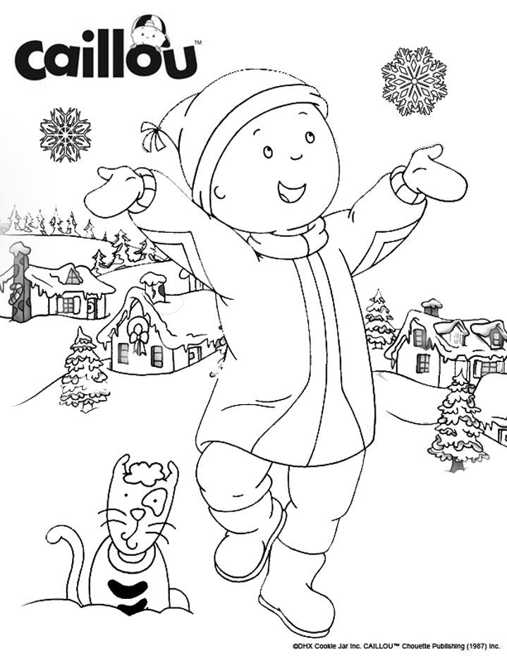 caillous snowman fun coloring sheet caillou kaapo pinterest caillou snowman and activities - Caillou Gilbert Coloring Pages