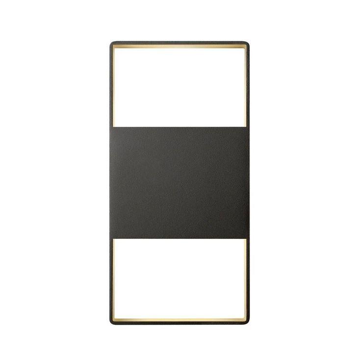 Sonneman Lighting Inside-Out-light Frames 14-inch Up/Down LED Textured Bronze Sconce, Brown (Metal)