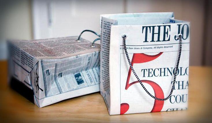 Veja como criar uma embalagem para presentes feita com jornal. Uma opção ecologicamente correta de você entregar seu presente com estilo.