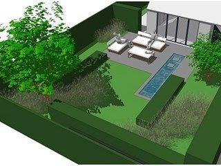 Afbeeldingsresultaat voor tuinontwerp kleine tuin plattegrond