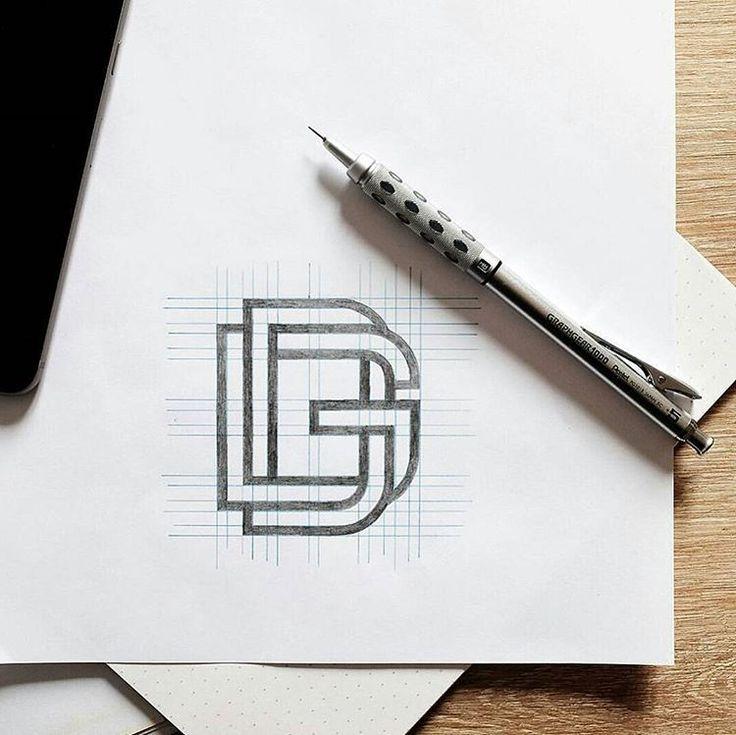 'DG' - A brilliant self branding logo design by @douggraphics // #typographyinspired