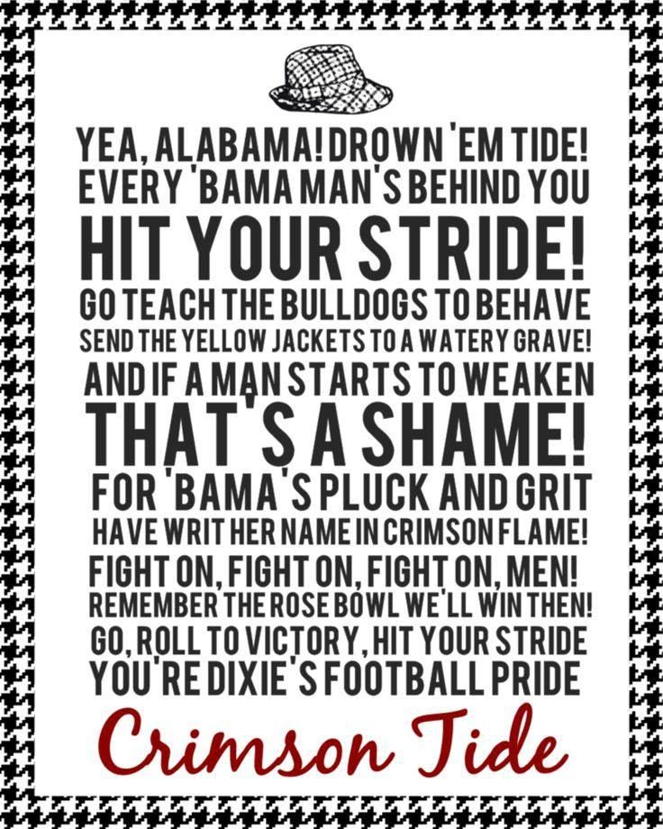 Yea, Alabama. www.RollTideWarEagle.com Informative and Entertaining Sports Stories all #SEC all #Football #RTR