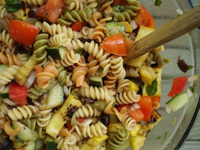Vegan+Thyme:+Smoky+Grilled+Vegetable+Pasta+Salad+with+Fresh+Bas...