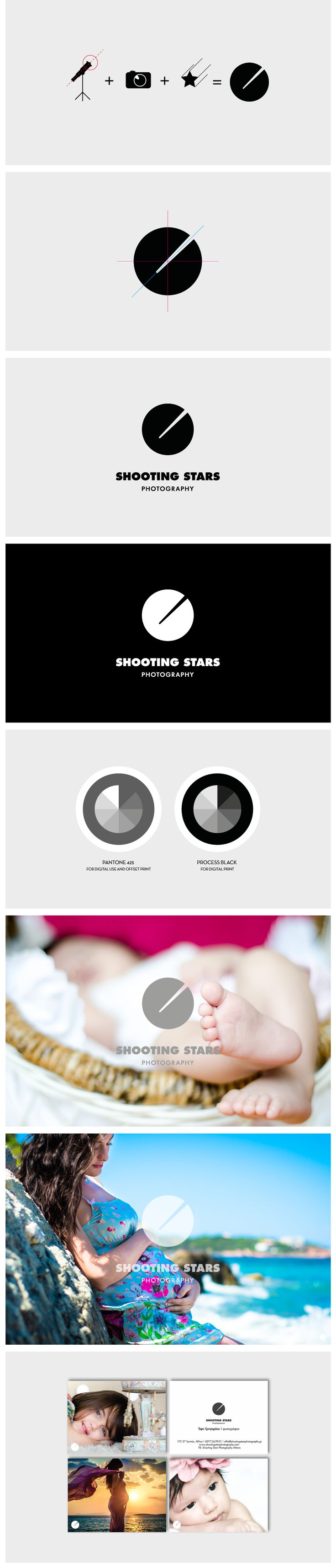 Shooting Stars photography asked us to design a logo that could decorate their wonderful portrait photography. The symbol is based on a shooting star as it goes through the photographer's lens.   #logo by comeback studio http://www.comebackstudio.com/portfolio/shooting-stars-photography-logo/
