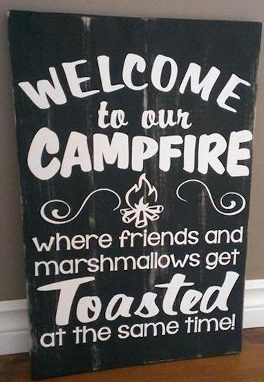 Campfire - Wood Sign