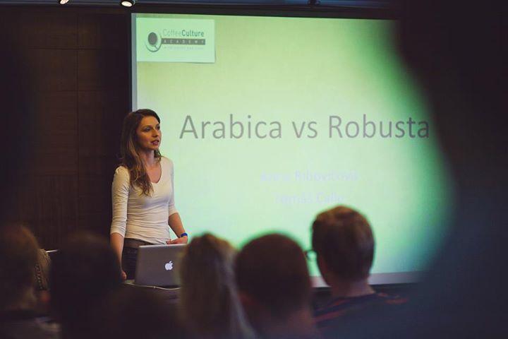 Anna Ribovičová, Arabica vs. Robusta @ Coffeefest Slovakia 2013 #kavomilci #coffeelovers