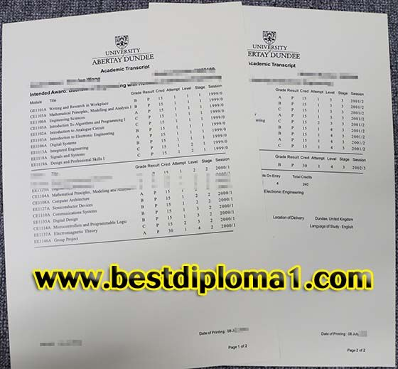 How To Buy University Of Abertay Dundee Fake Diploma T