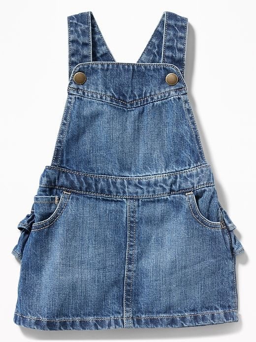 7d0384b17687 Denim Ruffled-Back Skirtall for Baby