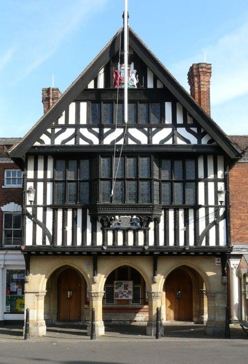 Half-timber Town Hall, Saffron Walden, Essex, England, UK