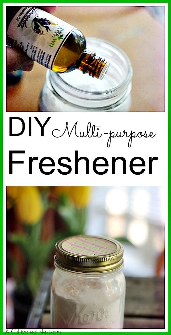 This DIY freshener has so many uses that I always keep a mason jar or two ready on hand. Environmentally friendly and frugal too!